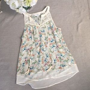 Charming Charlie floral sleeveless blouse